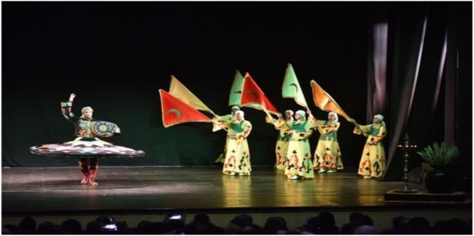 Cultural performance by El Horriya Folk Dance group from Egypt under 4th International Folk Dance & Music Festival on 9th October 2017 at Kamani