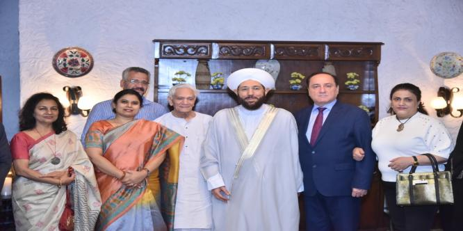 Dinner hosted by Prof. Lokesh Chandra President ICCR in honour of the visiting Syrian Grand Mufti on 26th september 2017