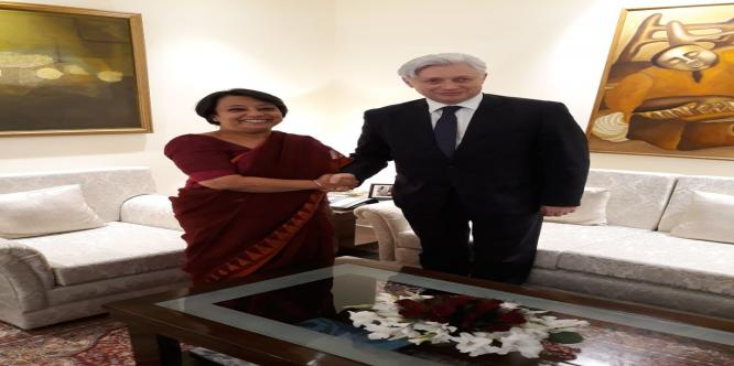 Ms Riva G Das, DG ICCR met Mr Iztok Mirošič , Deputy Foreign Minister of Slovenia. They had discussions on upcoming educational opportunities &
