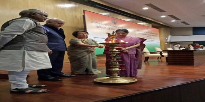 Lamp lighting ceremony at ICCR Distinguished Alumni Award - 2017.