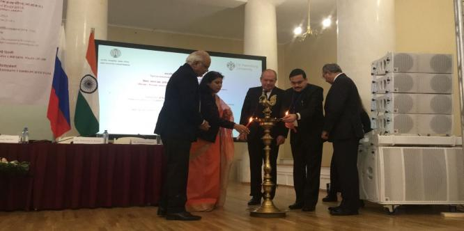 Inauguration of the Third International Conference of Indologists at St. Petersburg State University, Russia (April 26 – 28, 2018)