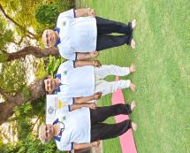 DG ICCR with the DR UMESH BABU, who taught us the posture of yoga on INTERNATIONAL YOGA DAY 21 JUNE 2019