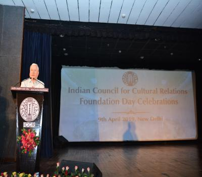 Speech by retired ICCR officer on Foundation Day Celebration 9th April 2019