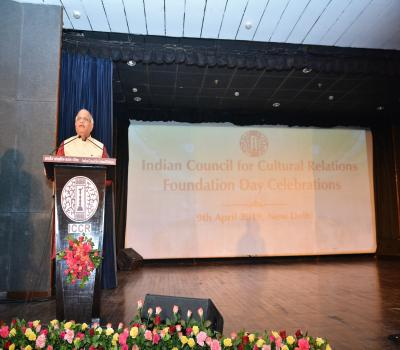 Speech by President ICCR on the Foundation Day celebration on 9th April 2019