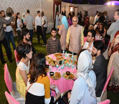 DG ICCR interacting with Foreign students on Foundation Day Celebration 9......