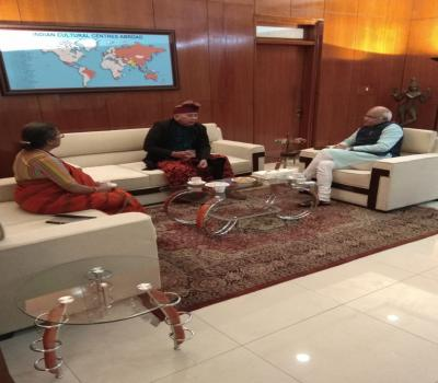Dr. Vinay Sahasrabuddhe, President #ICCR, met with Mr Nyoman Nuarta, ......