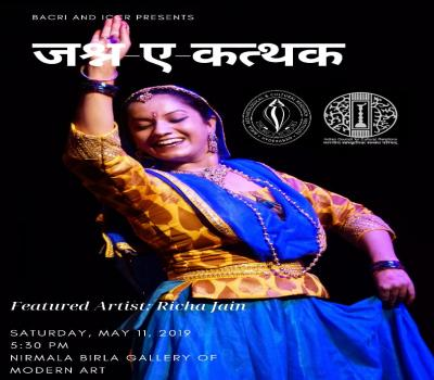 e-invite Jashn-e-Kathak on Saturday 11th May 2019 at 5.30 pm at Nirmala ......