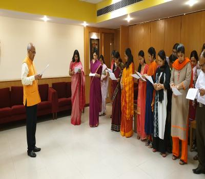 Pledge taking ceremony held in ICCR on the occasionof Anti ......